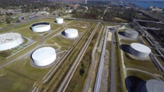 Aerial Phillips 66 refinery 9 aerial Stock Footage