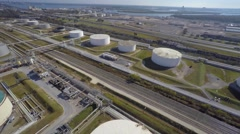 Aerial Phillips 66 refinery 8 aerial Stock Footage