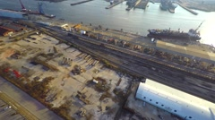 Aerial port allen 2 Stock Footage