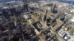 Aerial Phillips 66 refinery drone video Stock Footage