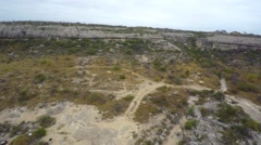 Aerial rio grand landscape Texas Stock Footage