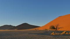 Wide desert landscape sossusvlei namibia pan uhd 4k Stock Footage