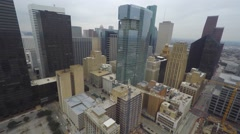 Aerial video Downtown Houston Stock Footage