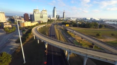 Downtown Mobile alabama 2 aerial Stock Footage