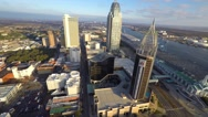 Stock Video Footage of Downtown Mobile alabama 4 aerial