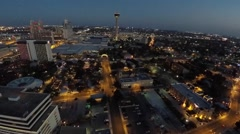 Downtown San Antonio and Tower of Americas 2 - stock footage