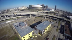 Downtown New Orleans Louisiana drone aerial video Arkistovideo