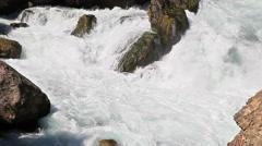 Fast water flow. Tazhikistan. Iskanderdarya Stock Footage