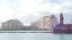 Dredging Miami Beach video footage Stock Footage