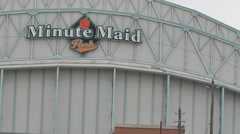 Minute maid stadium Houston Texas far shot Stock Footage