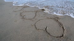 Hearts in the Sand Stock Footage