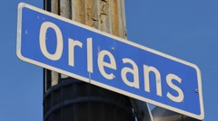 Orleans sign static video Stock Footage