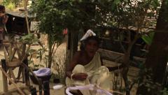Village life in Bengal, India - stock footage