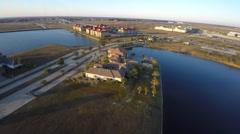 Slidell Louisiana aerial homes 4 Stock Footage