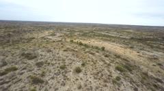 Texas desert 2 aerial video - stock footage