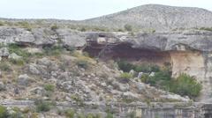 Texas rocky desert cave video - stock footage