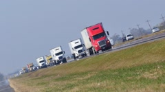Trucking highway USA video Stock Footage