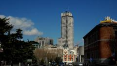 Madrid Plaza de España Square Timelapse Stock Footage
