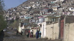 Residential neighborhood in Kabul, Afghanistan Stock Footage