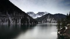 Lake Ritsa in the mountains Stock Footage