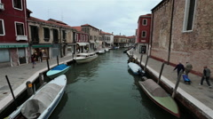 Venice Italy Murano canal destination apartments stores HD 4058 Stock Footage
