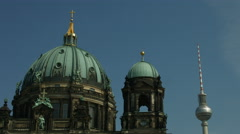 Berlin cathedral (Berliner Dom) Stock Footage
