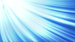 Curved blue light rays loopable background Stock Footage