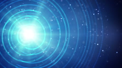 Abstract blue shine background loop Stock Footage