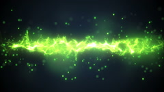 Abstract green wave form loopable background Stock Footage