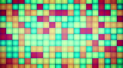 Multicolored squares mosaic loopable background Stock Footage