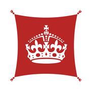 keep calm crown  symbol on cushion - stock illustration