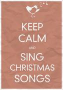 Keep calm and sing christmas song Stock Illustration