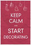 Keep calm and start decorating Stock Illustration