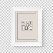 White picture frame on transparent background Stock Illustration