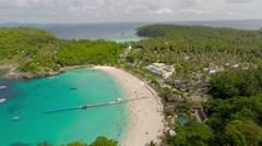 Flying over the beach. Ko Racha Yai Island. Stock Footage