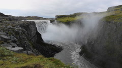 Dettifoss waterfall, Vatnajokull National Park Stock Footage