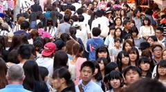 Time Lapse of Crowded Takeshita Street in Harajuku -  Tokyo Japan Stock Footage