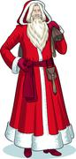 French Christmas Character Pere Noel colored - stock illustration
