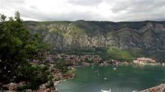 Kotor, Montenegro, landscape Stock Footage