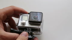 Holding GoPro Hero4 Stock Footage
