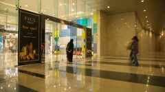Timelapse inside Muscat Grand Mall Stock Footage