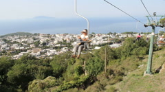 monte solara funicular on the island of capri, italy - stock footage