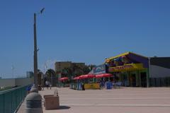Daytona Beach boardwalk looking south - stock footage