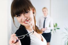 Young attractive business lady Stock Photos