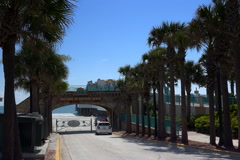Entrance ramp to Daytona Beach Stock Footage