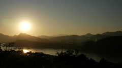 Sunset from Mount Phou Si in Luang Prabang Stock Footage