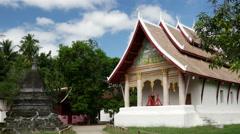 Wat aham luang prabang in Luang Prabang, Laos Stock Footage