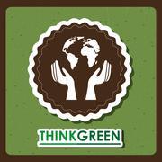 Stock Illustration of eco friendly design, vector illustration eps10 graphic