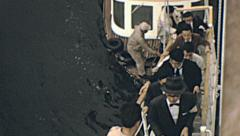 Japan 1964: immigration officers entering a Soviet ship Stock Footage
