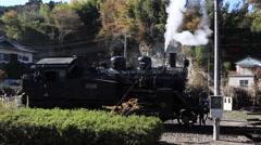 Moka Railway - Steam Engine Stock Footage